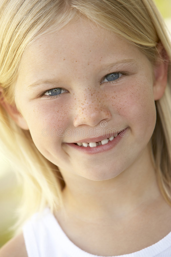 Portrait Of Girl Smiling royalty free stock photo
