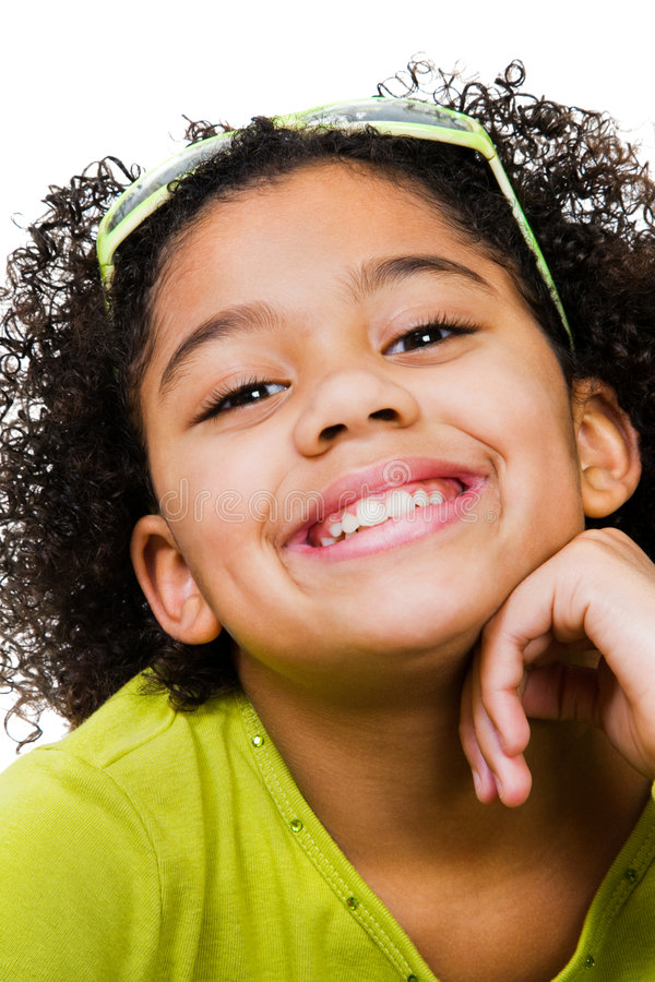 Portrait Of Girl Smiling stock images