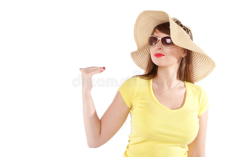 Download Portrait Of The Girl In A Straw Hat Stock Photo - Image: 33807578