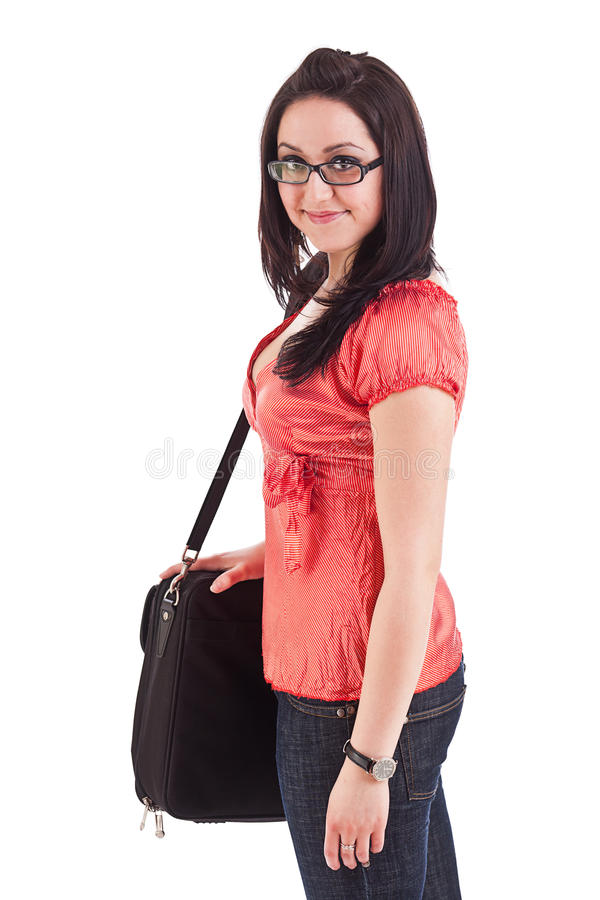 Portrait of a girl student royalty free stock photography