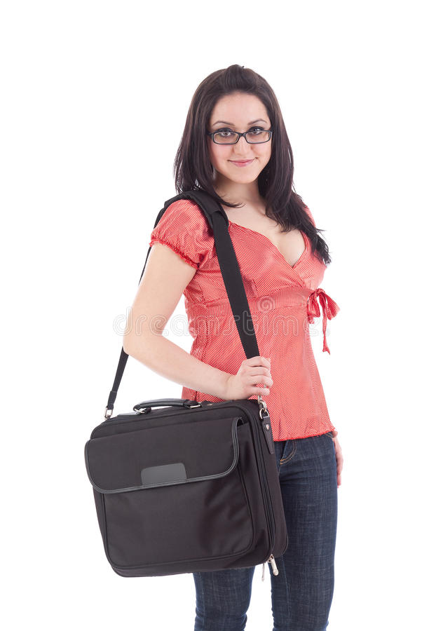 Portrait of a girl student stock photography