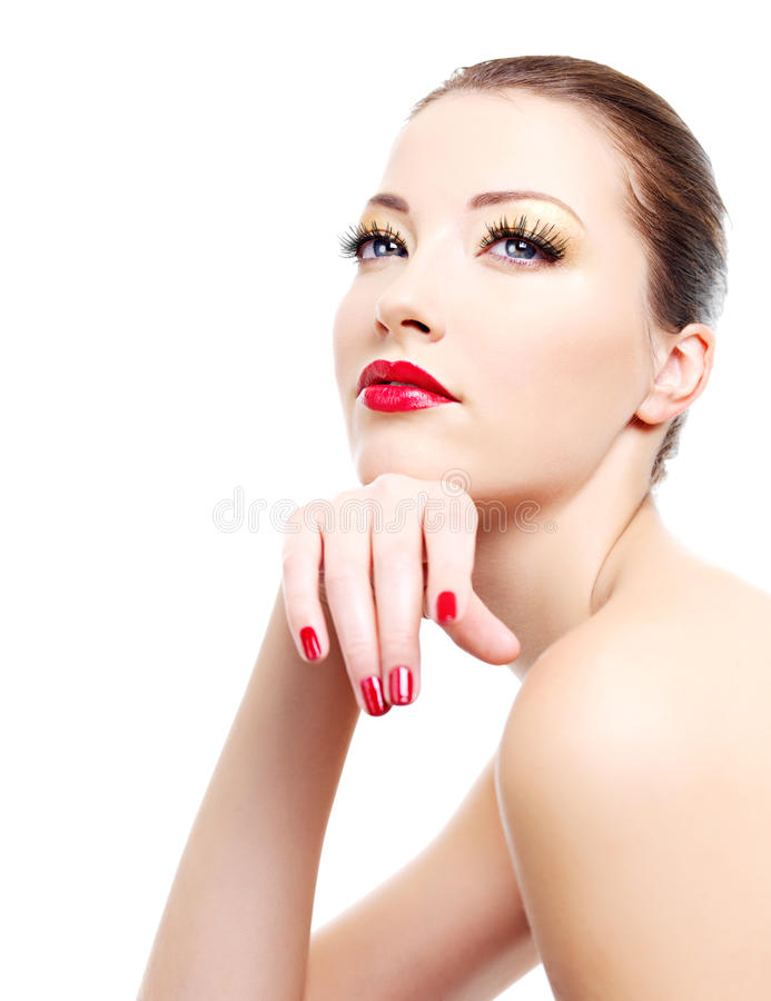 Download Portrait of glamour woman stock image. Image of cosmetics - 12199069