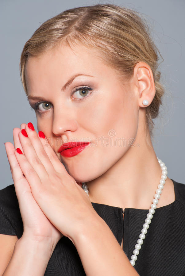 Download Portrait of glamour woman stock photo. Image of glamour - 16211490