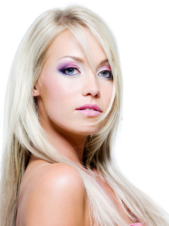 Portrait of glamour woman with fashion make-up royalty free stock images