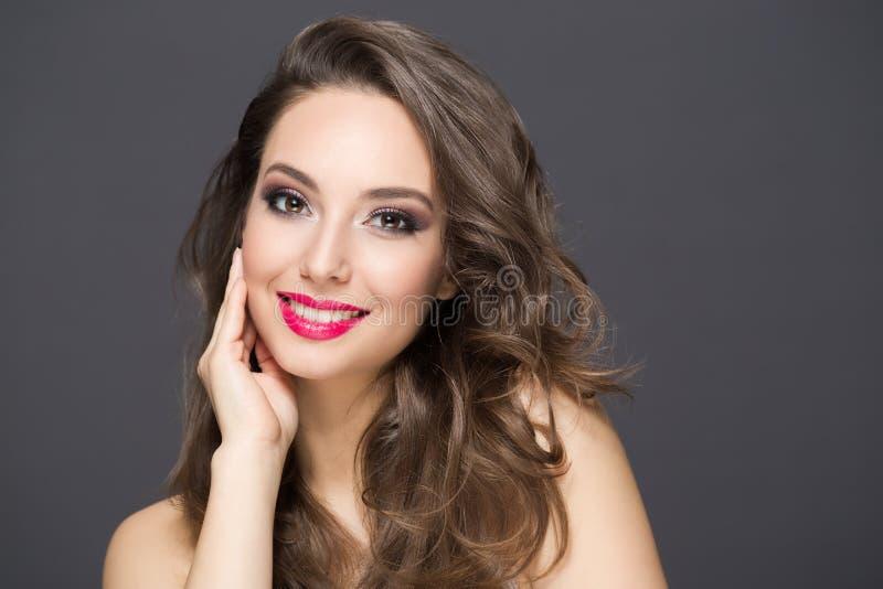 Elegant brunette beauty stock photos