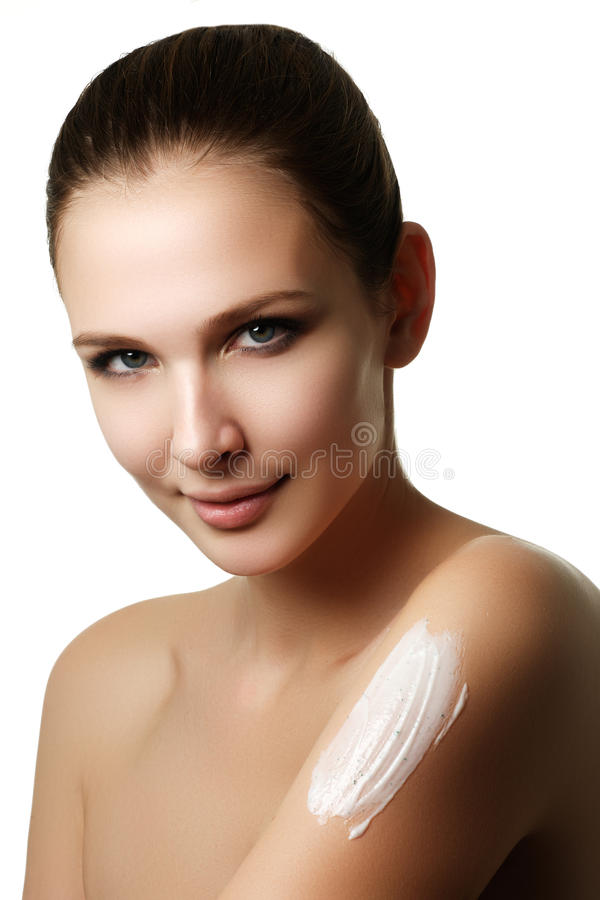 Portrait of a gorgeous brunette woman royalty free stock image