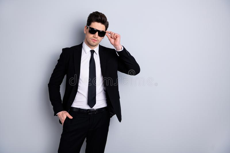 Portrait gorgeous luxury executive many much money rich income profit satisfied content think thoughtful ready solve. Problem create strategy fashionable stock images
