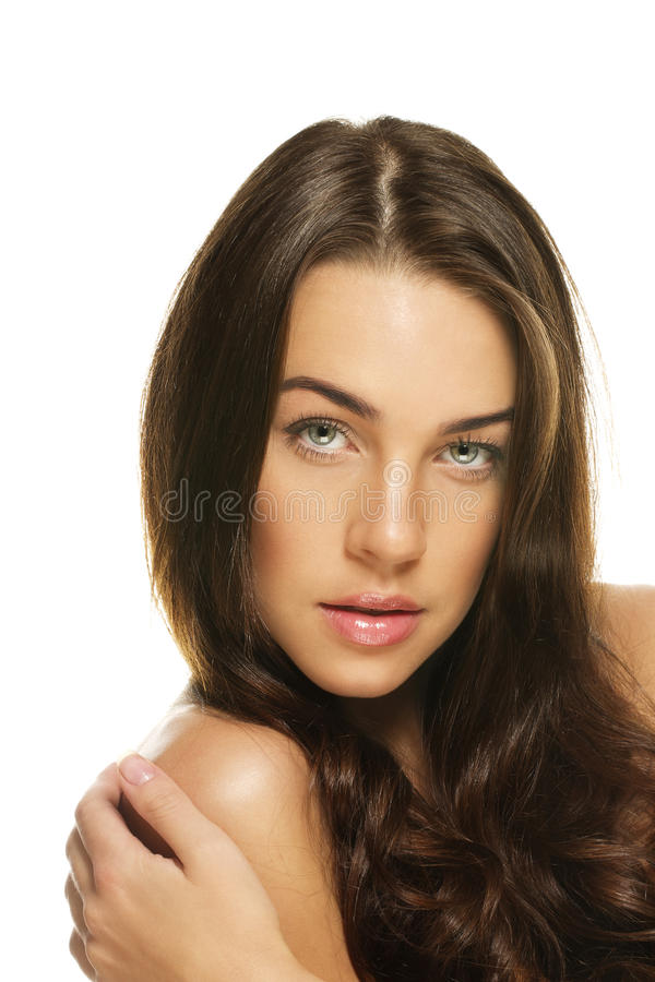 Portrait of a gorgeous woman stock photography