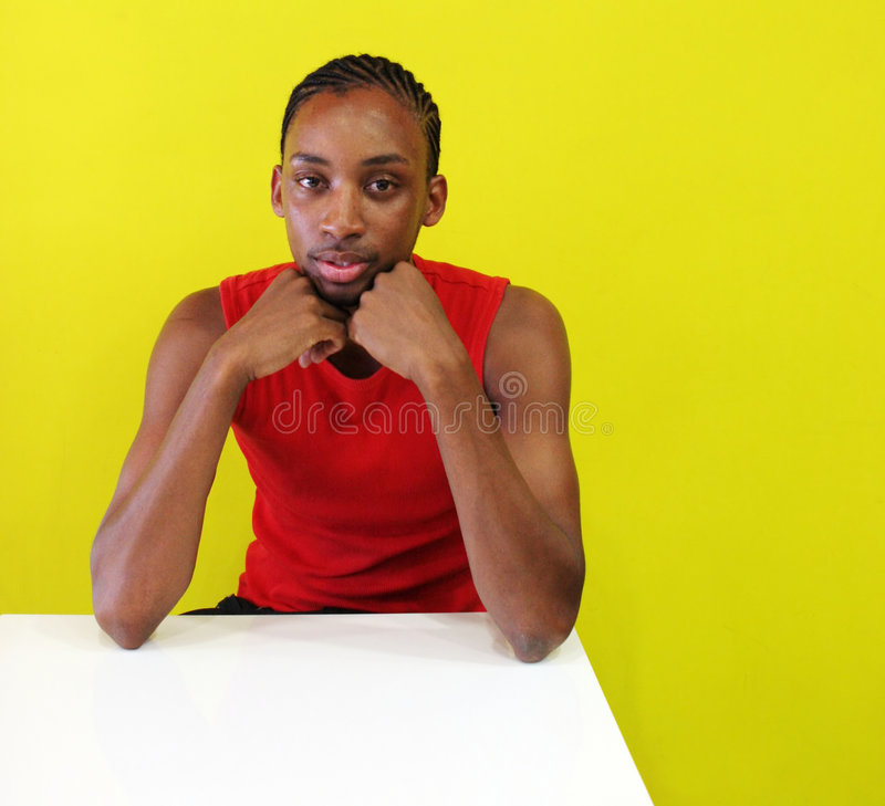 Portrait of a gorgeous young black man stock photos