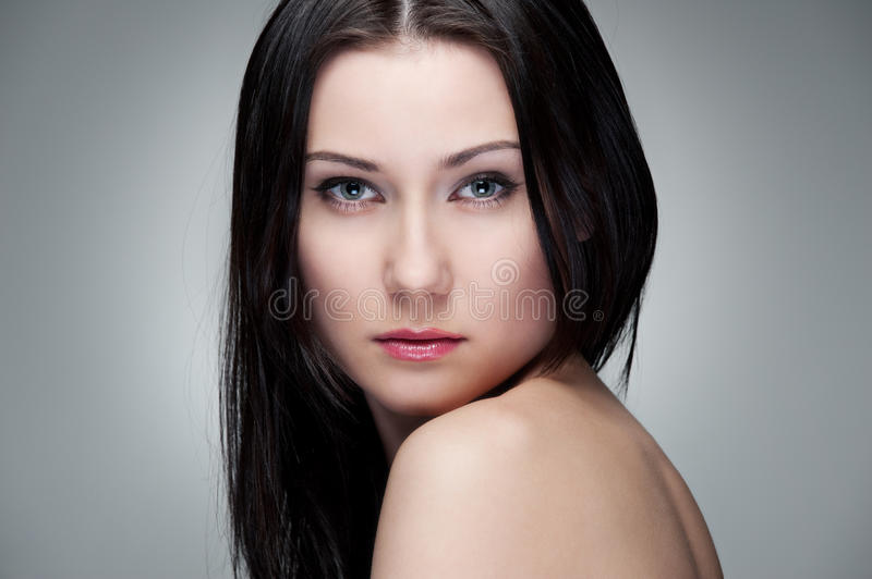 Portrait Of Graceful Young Woman Stock Photography