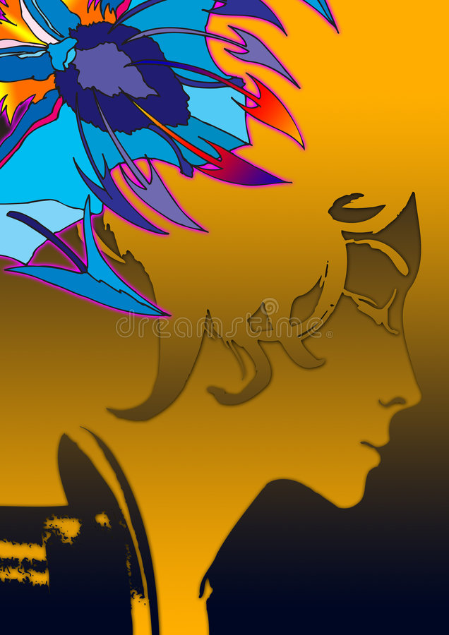 Download Portrait in graphic stock illustration. Image of woman - 2465288