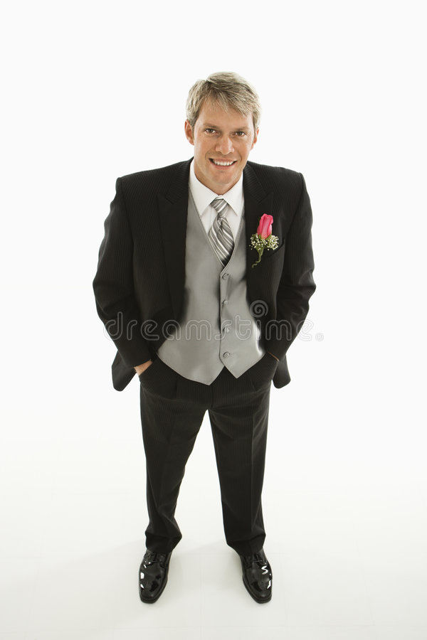 Portrait of groom. stock photo