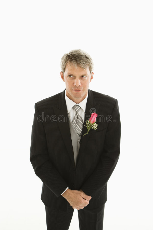 Portrait of groom. stock image