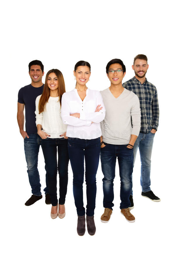 Portrait of a group cheerful people royalty free stock images