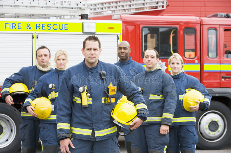 Download Portrait Of A Group Of Firefighters Royalty Free Stock Images - Image: 5948229
