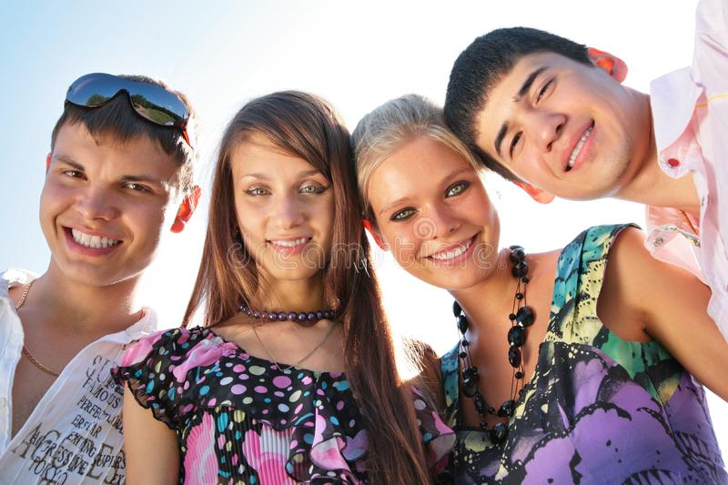 Portrait of group of friends royalty free stock images