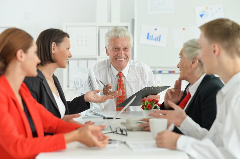 Portrait of group of successful business people stock images