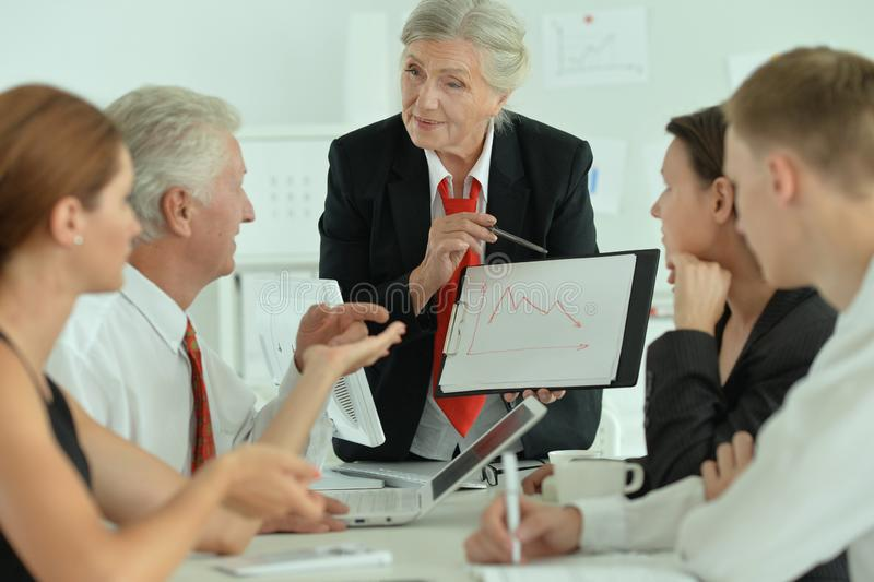 Portrait of group of successful business people stock photo