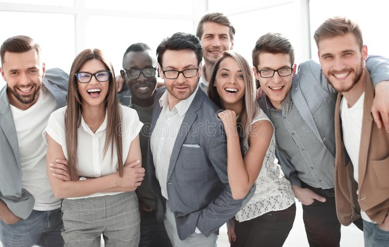 Portrait of a group of successful business people stock image