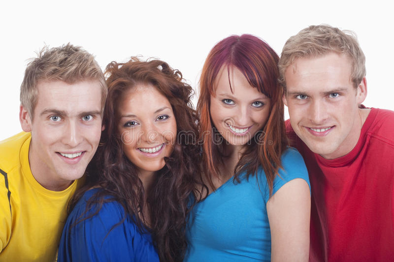 Portrait of a group of young people stock image