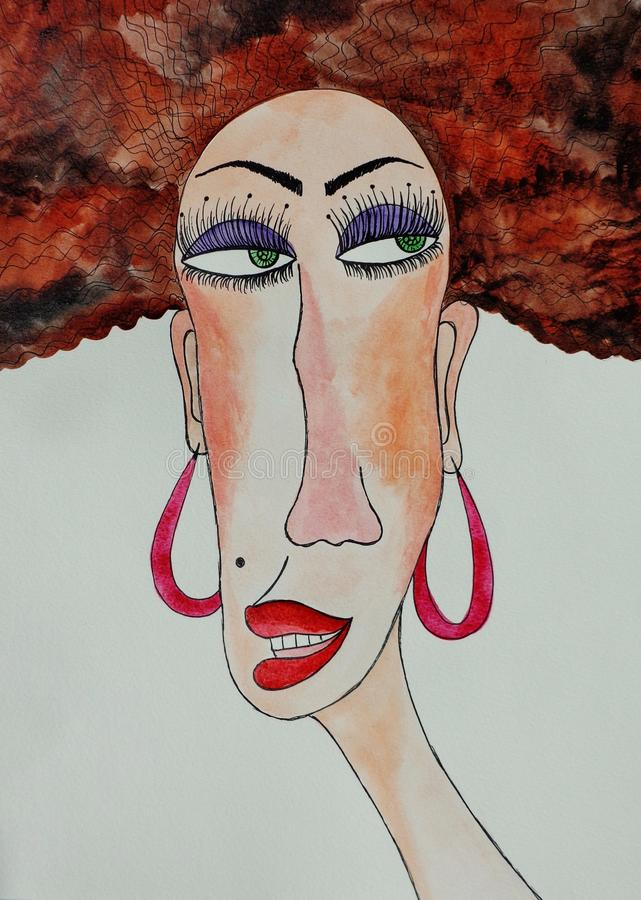 Portrait of gypsy woman