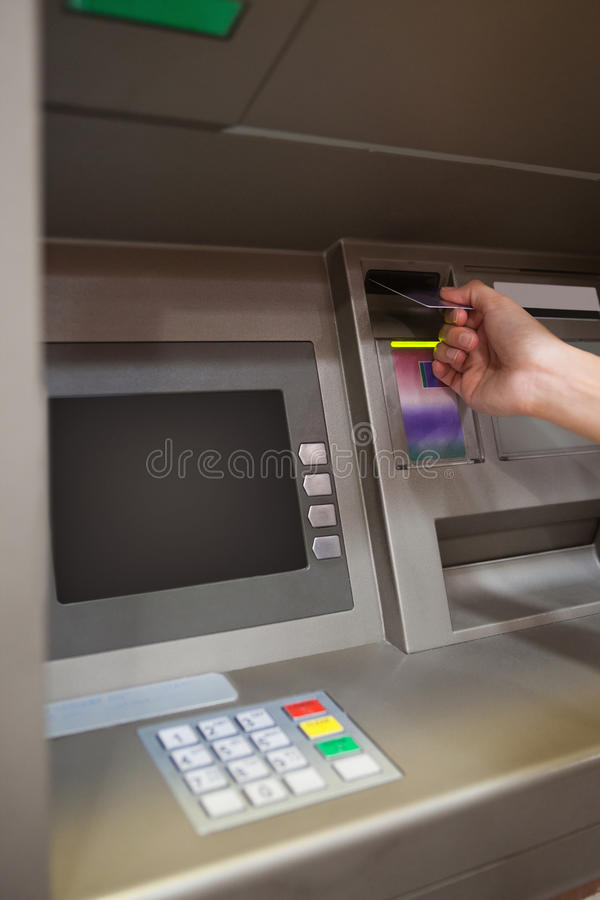 Download Portrait Of A Hand Inserting A Credit Card Stock Photo - Image of finance, money: 21147656