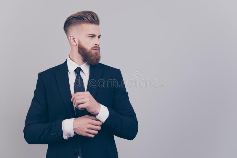 Portrait of handsome attractive neat elegant confident serious c royalty free stock photo