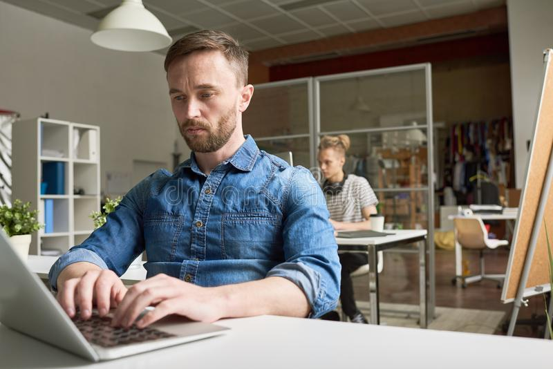 People Working in Open Office stock photo