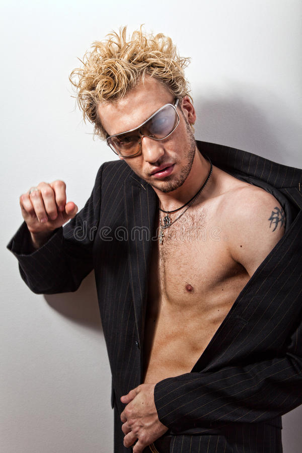 Download Portrait Of Handsome Blond Man In Sunglasses Stock Photo - Image: 18205928