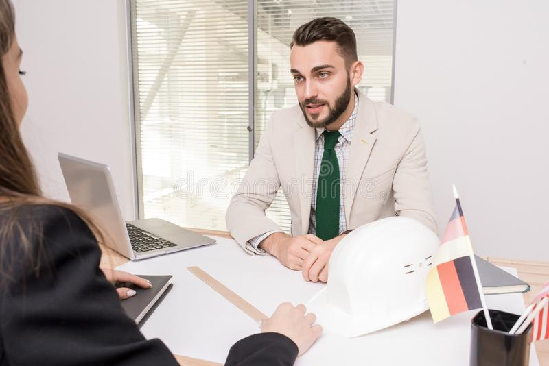 International Construction Deal royalty free stock photography