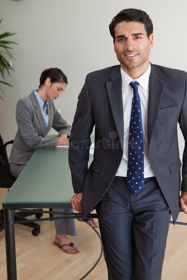 Download Portrait Of A Handsome Businessman Posing Stock Image - Image: 22236555