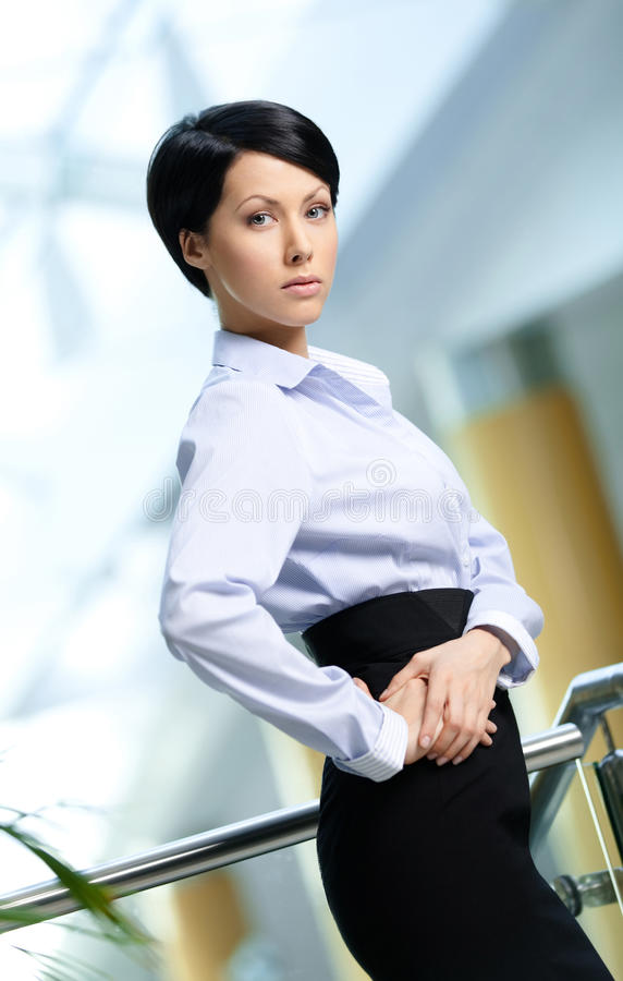 Portrait Of A Handsome Businesswoman Stock Images