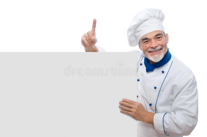 Portrait Of A Handsome Chef Stock Photography