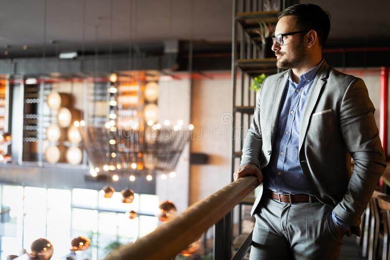 Portrait of an handsome confident business man royalty free stock photos