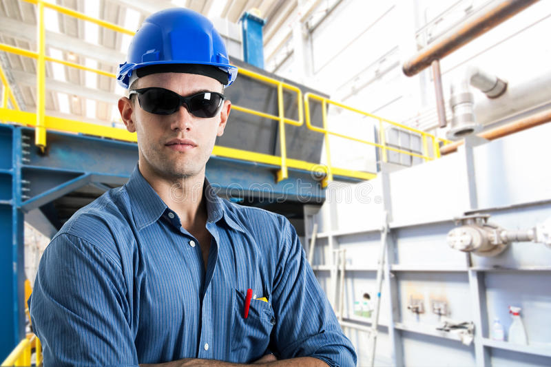 Download Portrait Of An Handsome Engineer Stock Photo - Image: 28669380