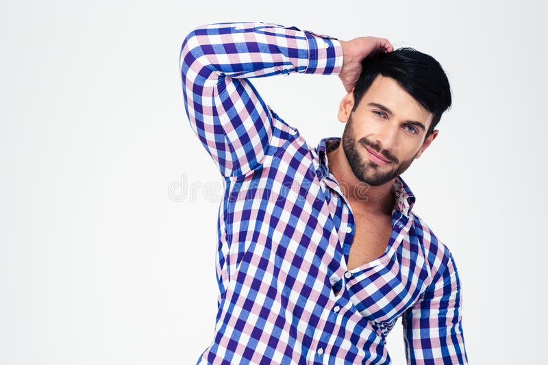 Portrait of a handsome macho looking at camera royalty free stock image
