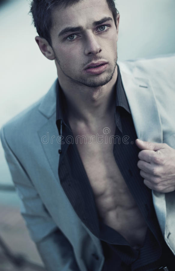 Portrait of a handsome man royalty free stock images