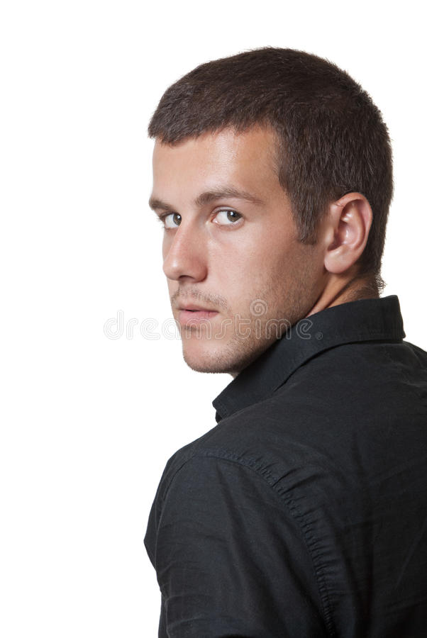 Portrait of a handsome man stock image