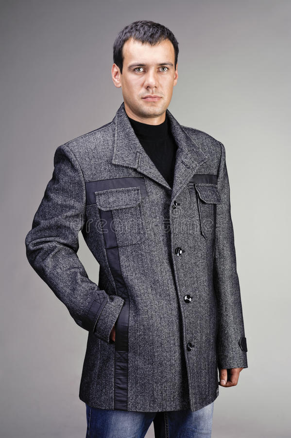 Portrait Of Handsome Man In Coat Royalty Free Stock Photo