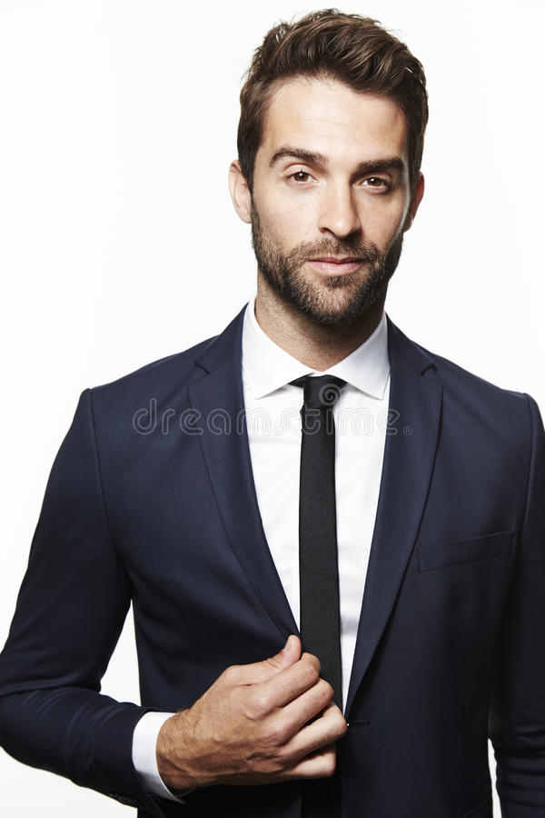 Portrait of handsome man stock photography