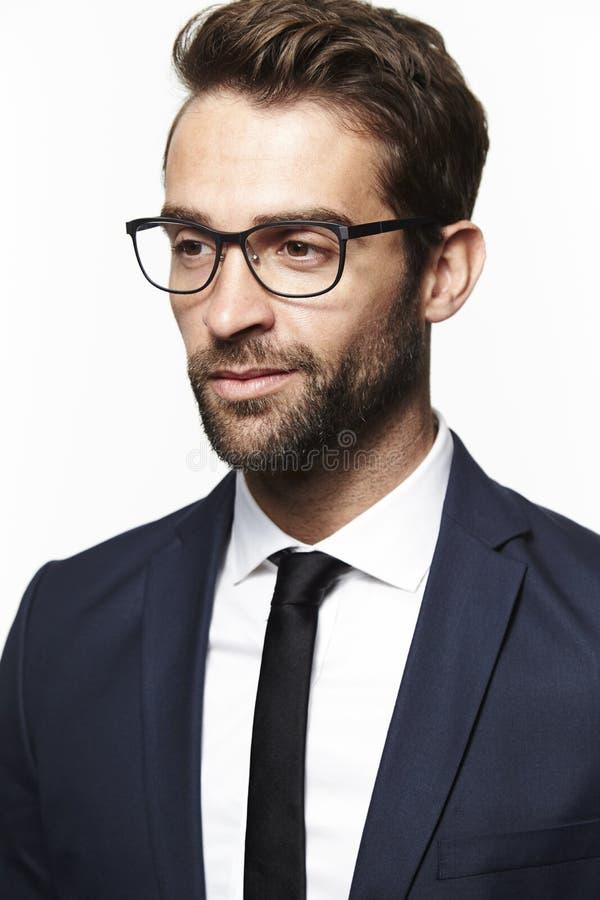 Portrait of handsome man stock photo