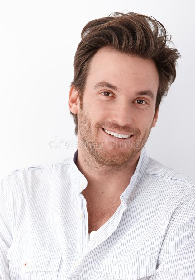 Portrait of handsome man smiling stock image