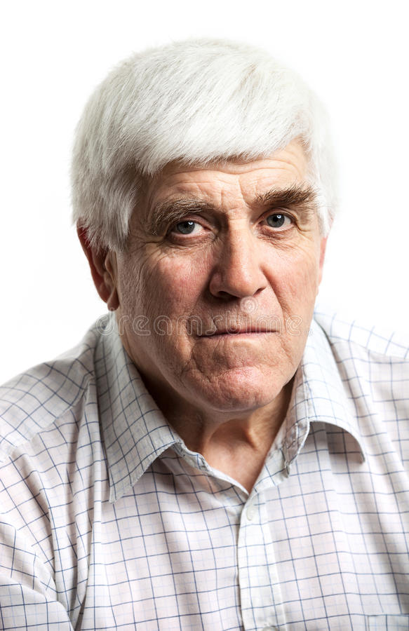 Portrait of a handsome mature man stock photography