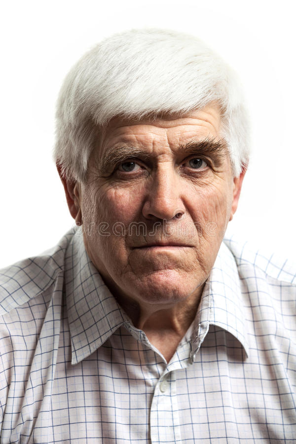 Portrait of a handsome mature man looking at camera. royalty free stock images