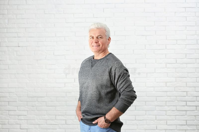 Portrait of handsome mature man royalty free stock images