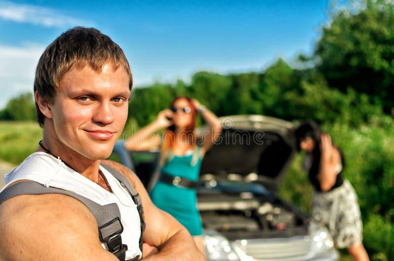 Portrait of handsome mechanic