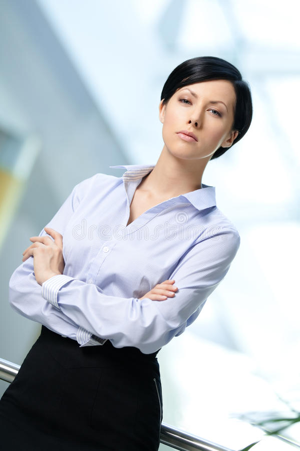 Download Portrait Of A Handsome Pretty Business Woman Stock Photo - Image: 26630946