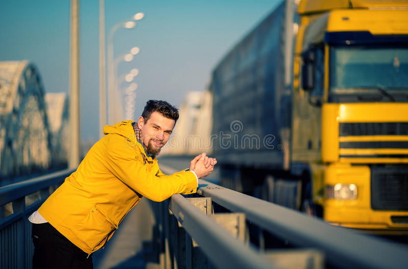 Portrait of a handsome stylish young man royalty free stock photography