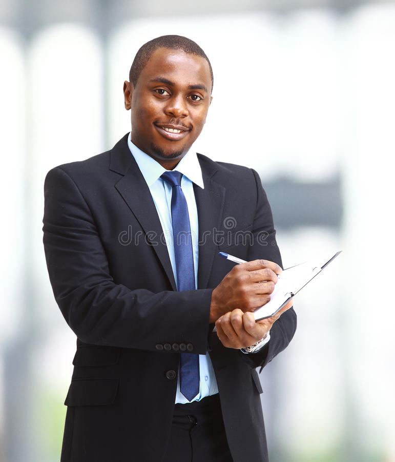 Download Portrait Of A Handsome Successful Business Man Stock Photo - Image of office, fresh: 18153612