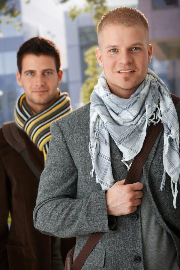 Portrait of handsome trendy men royalty free stock photo